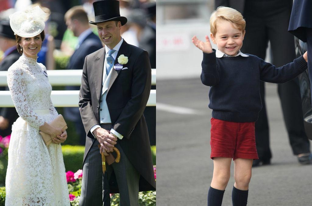 Księżna Kate, książę William, książę George