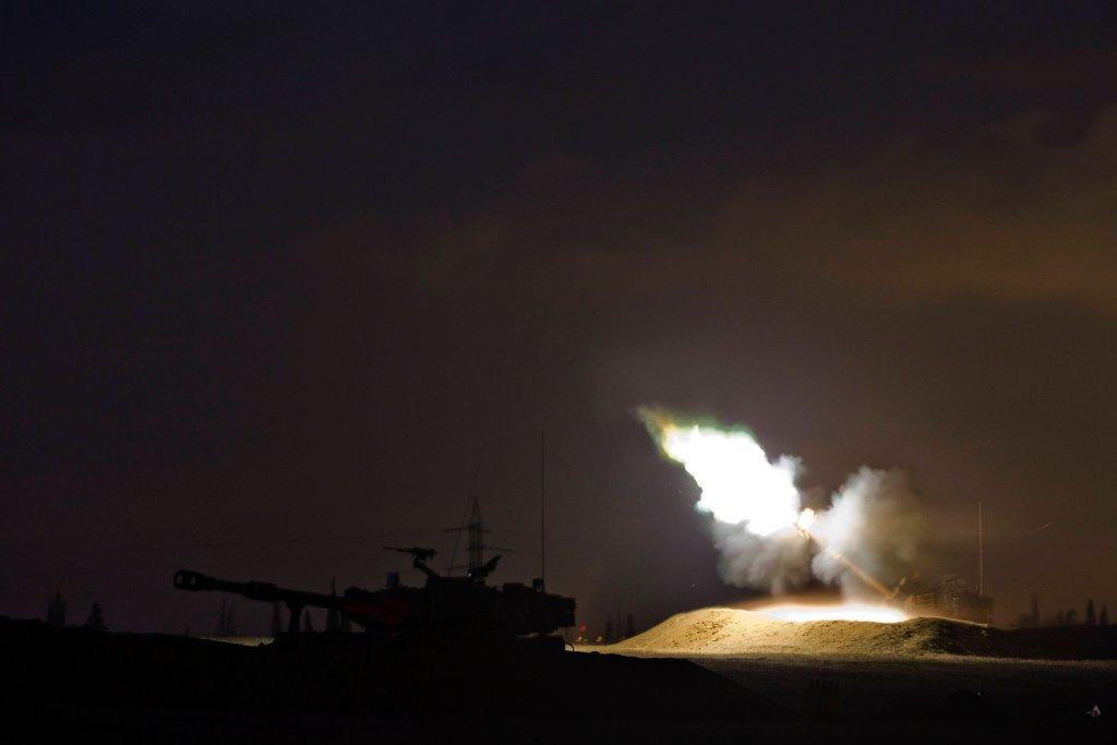 Pociski nad Strefą Gazy