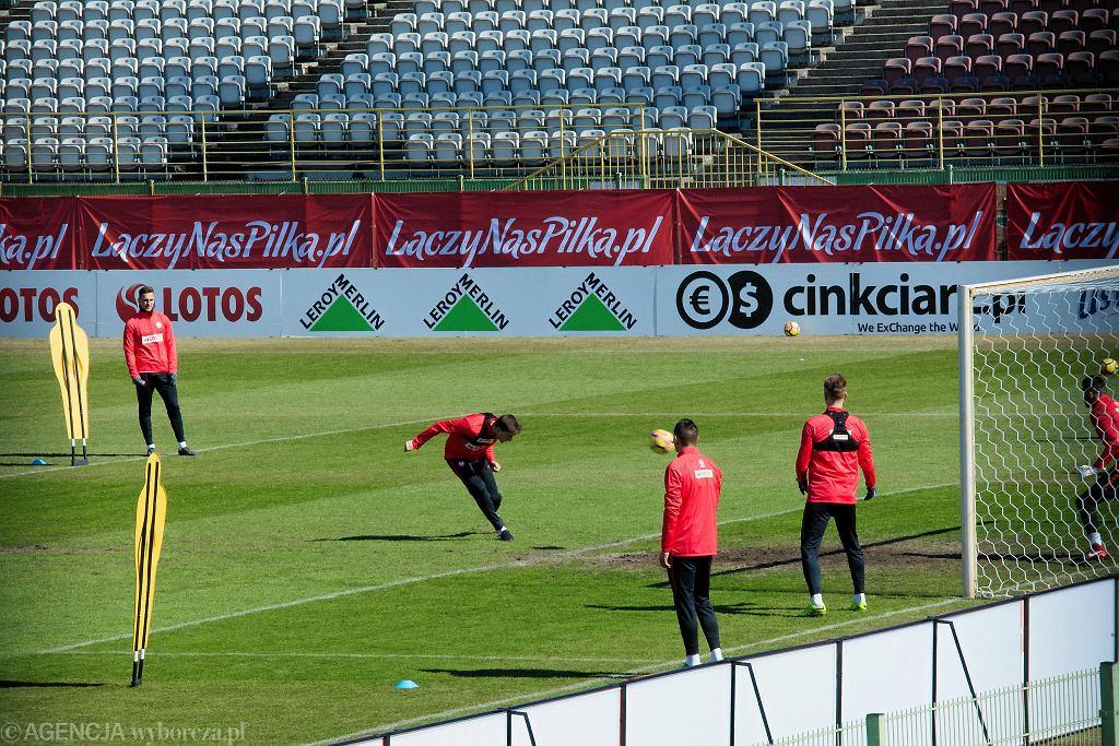 Trening reprezentacji Polski przed meczem z Nigerią we Wrocławiu