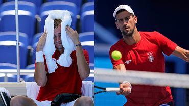 Novak Djoković i Danił Miedwiediew