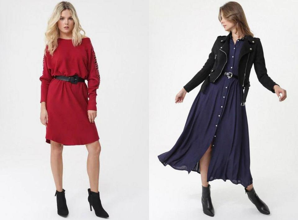 Eleganckie sukienki z paskiem