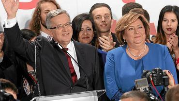 Wybory prezydenckie 2015. Wieczór wyborczy w sztabie Bronisława Komorowskiego