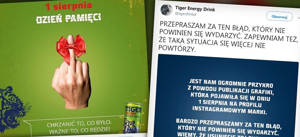 Kontrowersyjna reklama Tigera