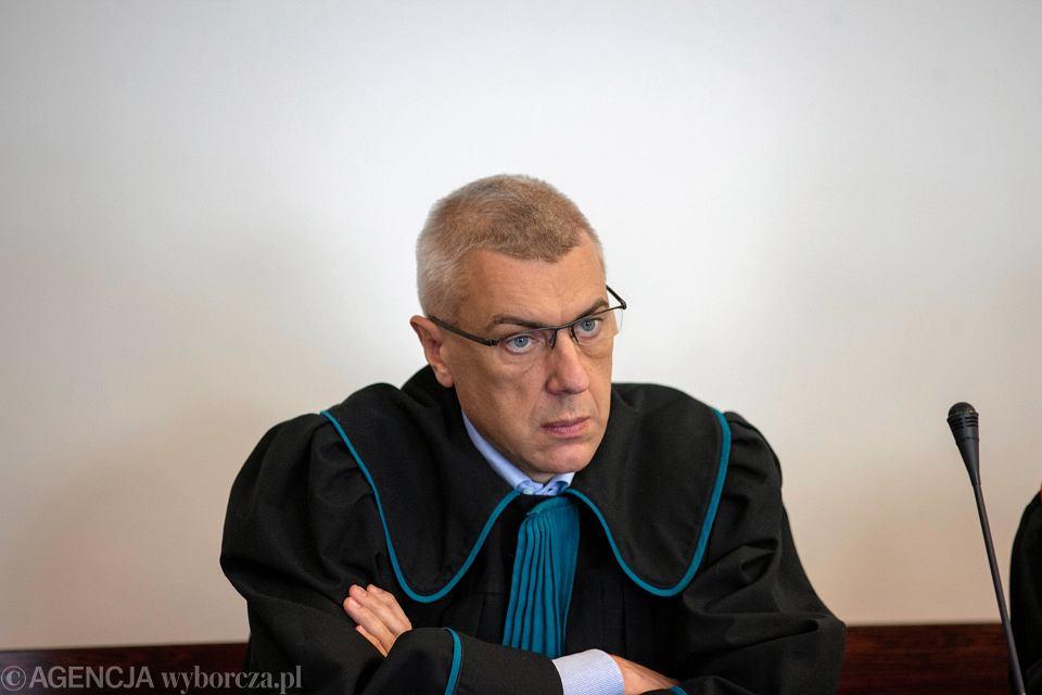 Mecenas Roman Giertych w sądzie (sprawa ataku na dom Michała Tuska). Gdańsk, 17 stycznia 2019