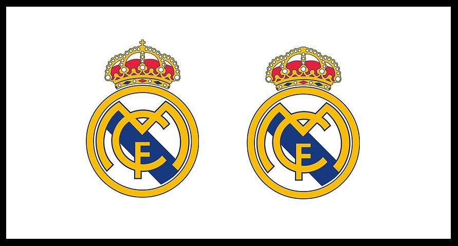 Stare i nowe logo (bez krzyża) Realu Madryt