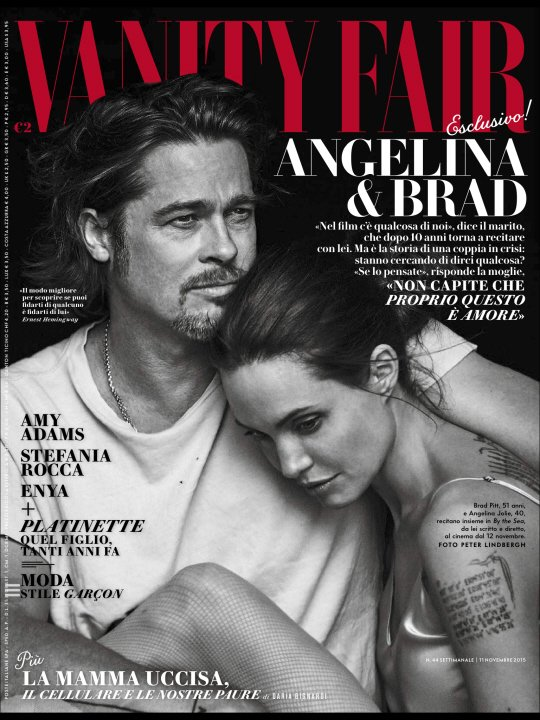 Angelina Jolie i Brad Pitt dla Vanity Fair Italia 2015