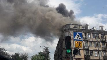 Pożar kamienicy przy Ząbkowskiej