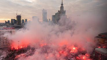 Marsz Niepodległości w 2019 roku w Warszawie.