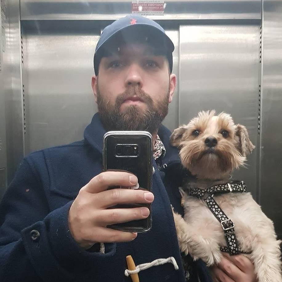Wojciech Mucha z psem