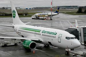 Niemiecki przewoźnik lotniczy ogłosił bankructwo. Pasażerowie linii Germania dowiedzieli się na lotnisku