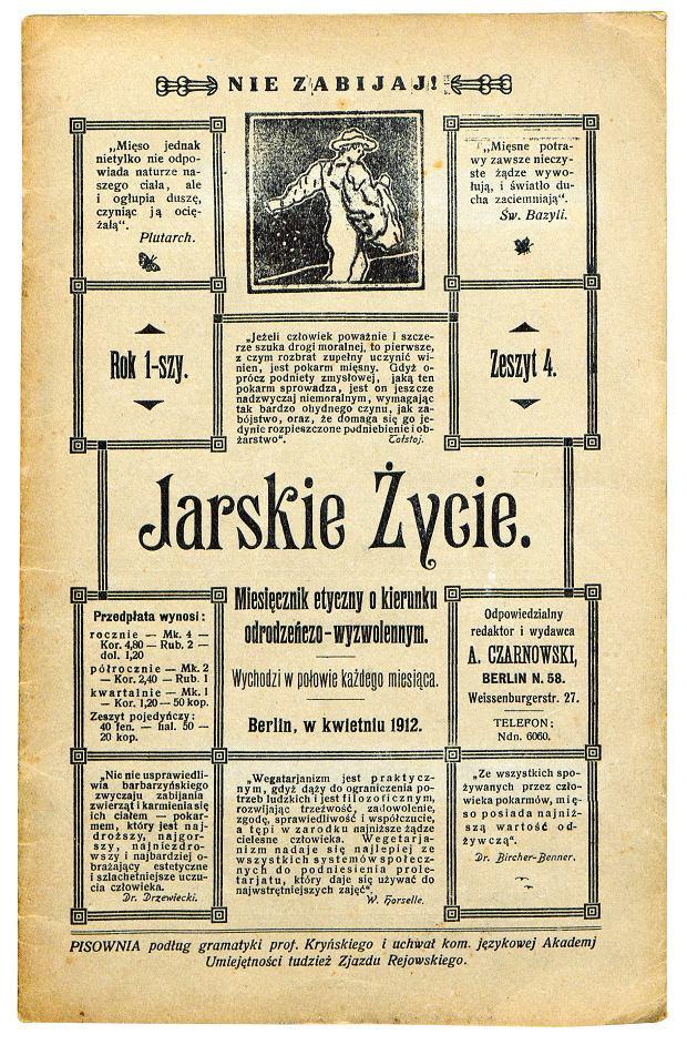 Egzemplarz 'Jarskiego życia' z 1912 r.