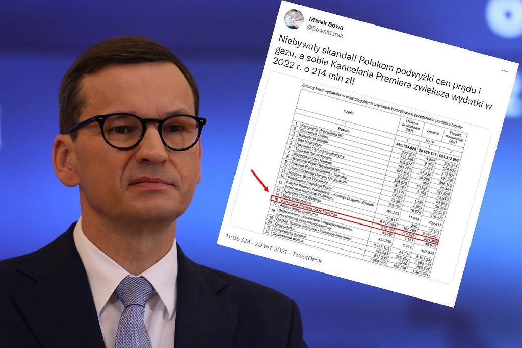 Kancelaria Premiera zwiększyła wydatki o 214 milionów złotych