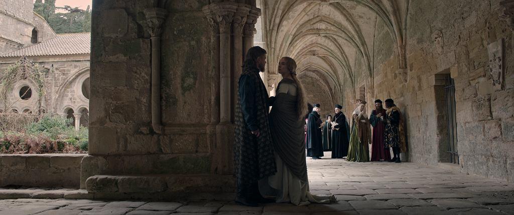 'Ostatni pojedynek', film w reżyserii Ridleya Scotta od 15.10.2021 w kinach. Matt Damon jakoJean de Carrouges i Jodie Comer jako jego żona, Marguerite de Carrouges