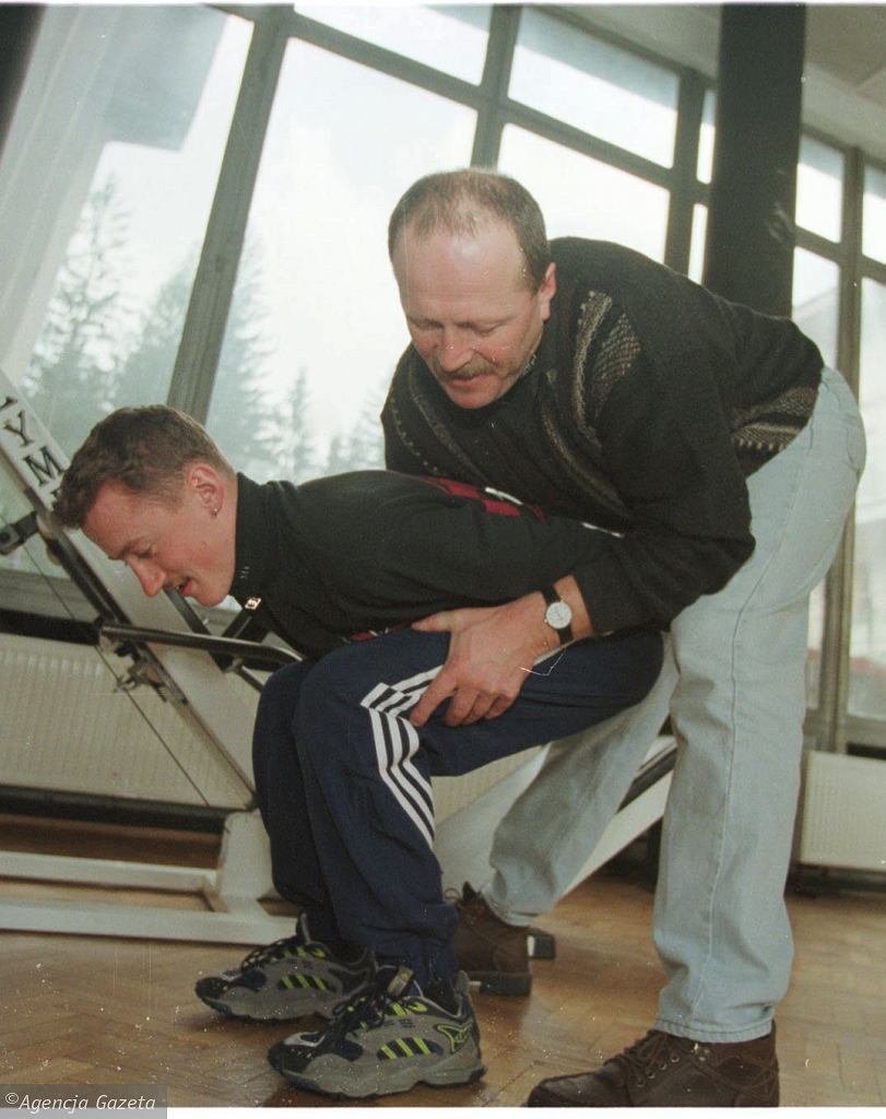 Adam Małysz i Piotr Fijas