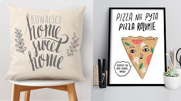 Napisy we wnętrzach - poduszki i plakaty z napisami
