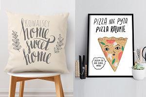 Napisy we wnętrzach - modne poduszki, plakaty i tabliczki z napisami