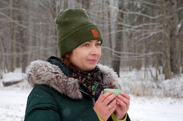 Katarzyna Simonienko jako pierwsza w Polsce uzyskała certyfikat przewodnika kąpieli leśnych międzynarodowej organizacji FTI - Forest Therapy Institute (fot: NK)