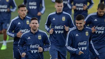 Trening reprezentacji Argentyny przed meczem z Wenezuelą w Madrycie
