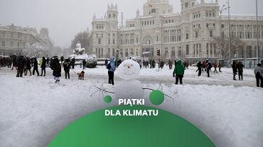 Śnieg w Madrycie