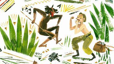 Przygoda dzika Toniego Halika - ilustracja z książki