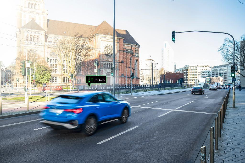 Audi łączy się z sygnalizacją świetlną w Düsseldorfie