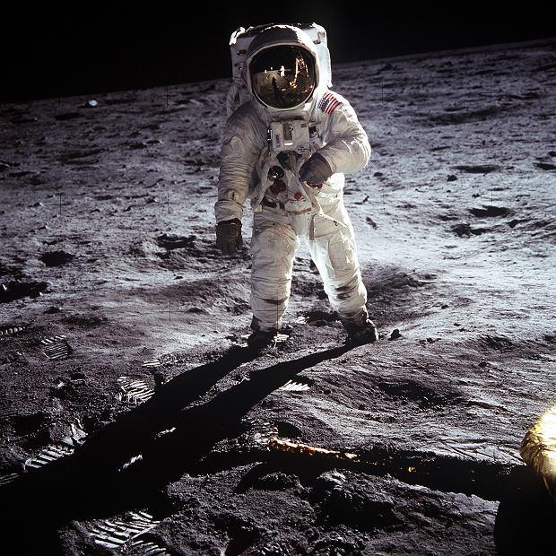 Buzz Aldrin na Księżycu, 21 lipca 1969