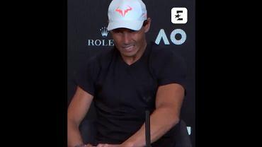Rafael Nadal na konferencji prasowej po meczu ze Stefanosem Tsitsipasem
