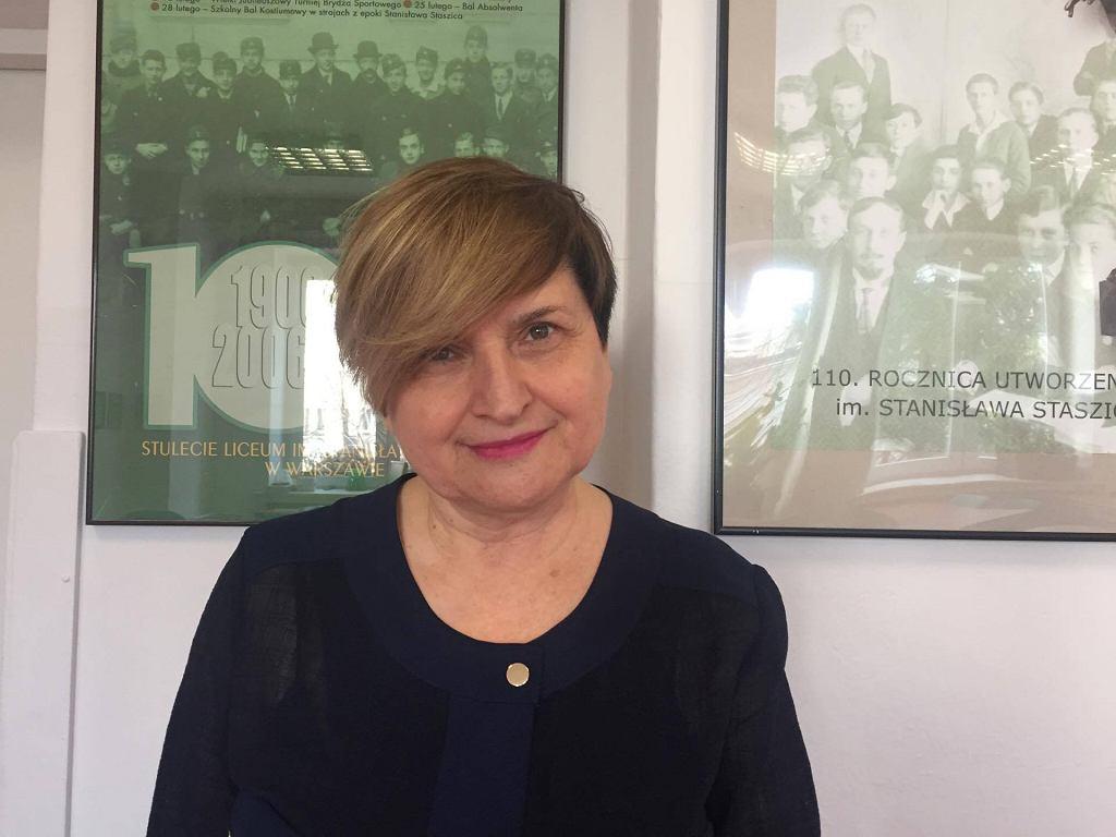 Ewa Macias - polonistka z liceum im. Stanisława Staszica
