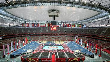 Trening polskiej reprezentacji w siatkówce na Stadionie Narodowym