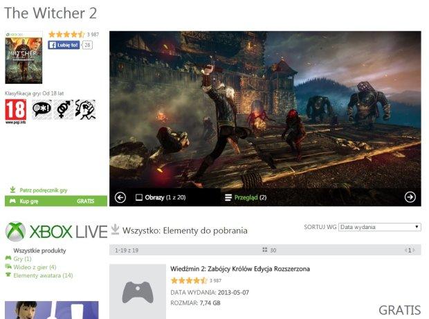Wiedźmin 2 na Xbox 360
