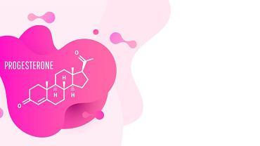 Progesteron - żeński hormon płciowy, który razem z estrogenami reguluje cykl miesiączkowy