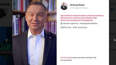 Andrzej Duda na TikToku