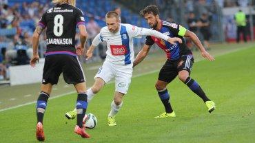 FC Basel - Lech Poznań 1:0 w III rundzie eliminacji do Ligi Mistrzów. Birkir Bjarnason, Szymon Pawłowski, Matias Delgado