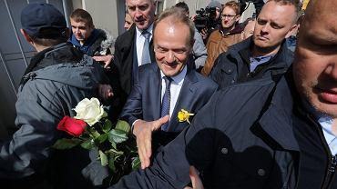 Donald Tusk przed warszawską prokuraturą