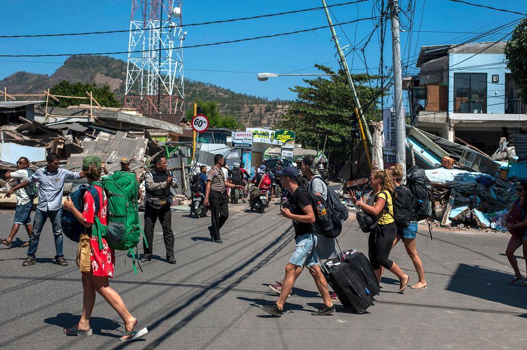 Indonezja. Skutki trzęsienia ziemi na wyspie Lombok