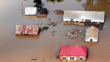 26 maja 2010, powódź w Borkach.