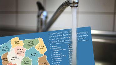 Tak mogą wzrosnąć ceny za wodę