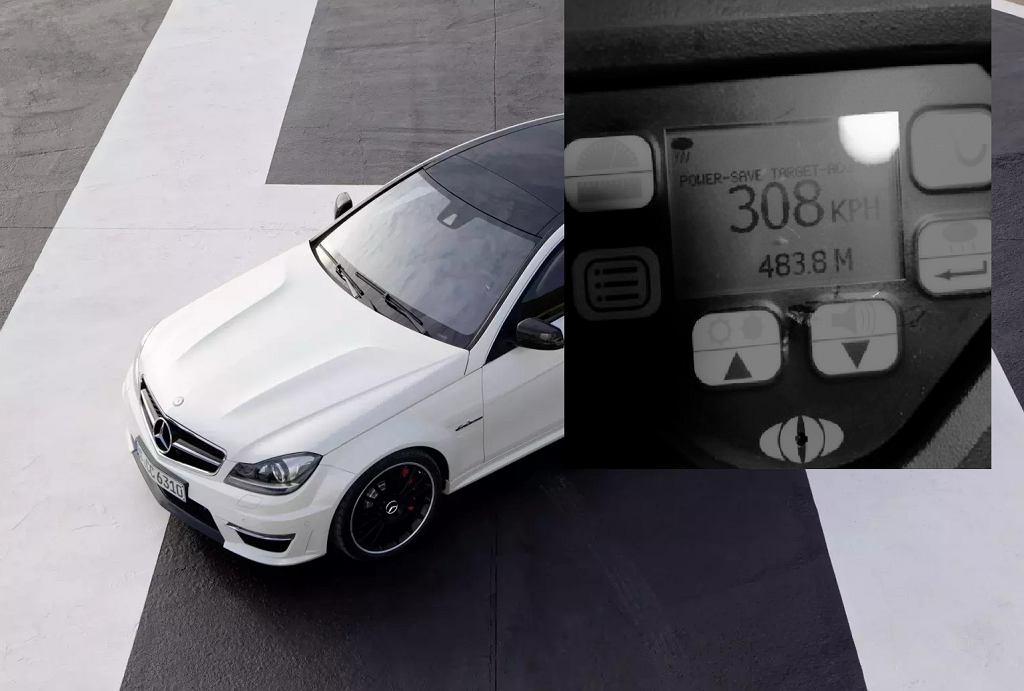 19-latek za kierownicą mercedesa rodziców jechał 308 km/h
