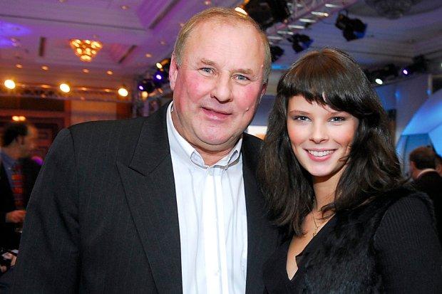 Jan Tomaszewski z córką Małgorzatą w 2006 roku