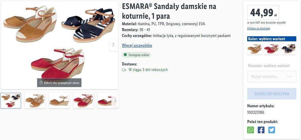 Lidl sprzedaje modne sandały za mniej niż 45 zł