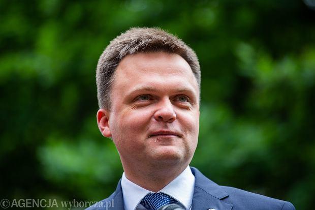 Szymon Hołownia podczas kampanii prezydenckiej