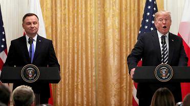 18.09.2018, Waszyngton, wspólna konferencja prasowa Andrzeja Dudy i Donalda Trumpa w Białym Domu.