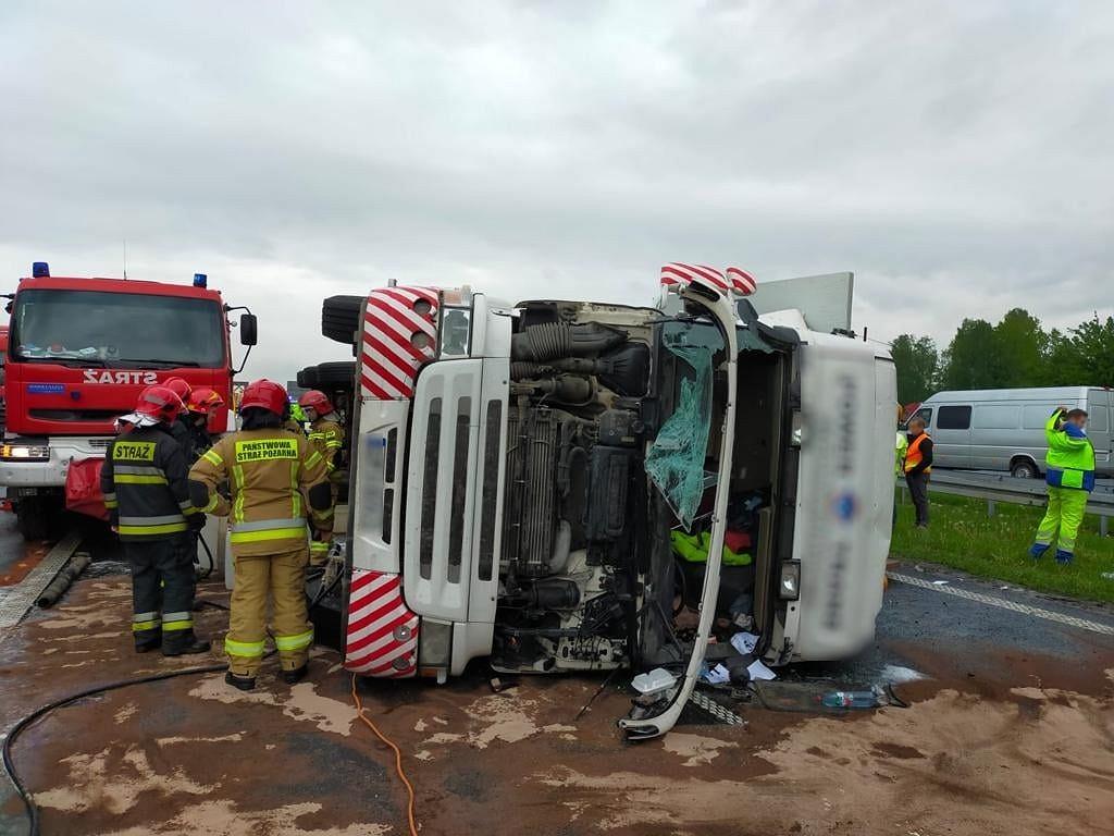 Wypadek na A4 Mysłowice