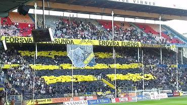 AIK Solna - Lech Poznań. Szwedzcy kibice