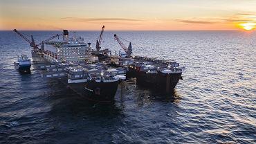 Budowa gazociągu Nord Stream 2 na wodach Morza Bałtyckiego