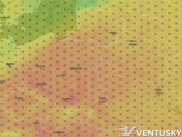 W niedzielę w okolicach Krakowa może być nawet 25 stopni Celsjusza