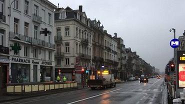 Niewielki ruch na ulicach Brukseli