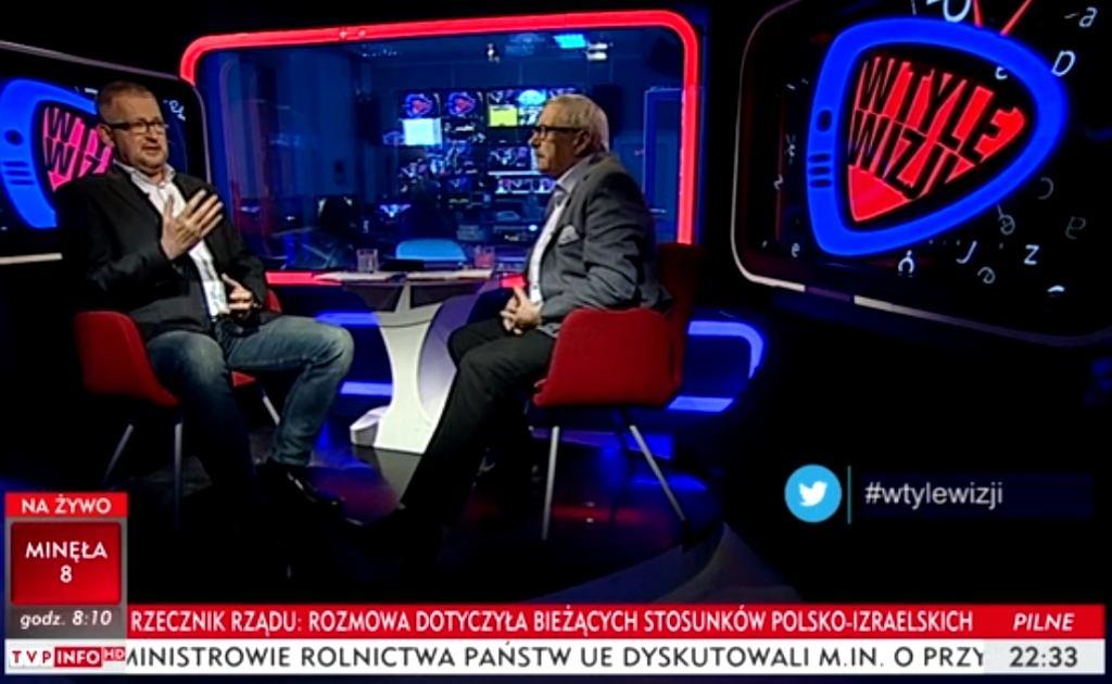 Program 'W tyle wizji' w TVP Info