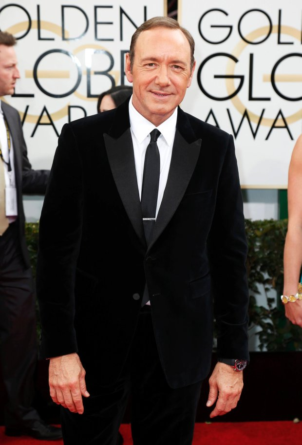 Actor Kevin Spacey arrives at the 71st annual Golden Globe Awards in Beverly Hills, California January 12, 2014.  REUTERS/Danny Moloshok  (UNITED STATES - Tags: Entertainment)(GOLDENGLOBES-ARRIVALS)