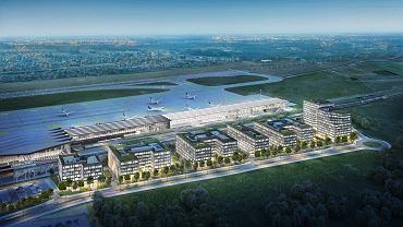 Airport City Gdańsk, wizualizacja.